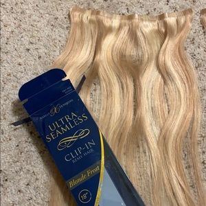 """18"""" blonde extensions"""